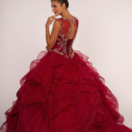 QUINCEANERA DRESS GL2511 BURGUNDY GOLD