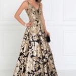 PROM DRESS BLACK GOLD GL2511