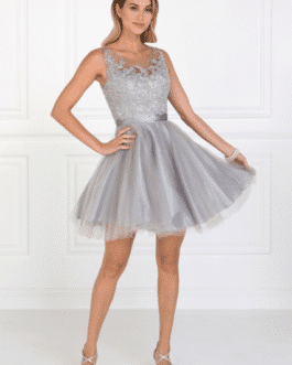 COCKTAIL DRESS SILVER GS2414