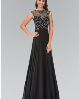 BLACK LONG DRESS GL2120