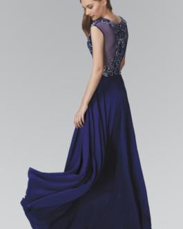 ROYAL BLUE LONG DRESS GL2120