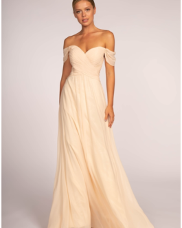 BRIDESMAID CHAMPAGNE LONG DRESS GL2550