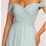 BRIDESMAID SILVERY BLUE LONG DRESS GL2550