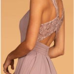 BRIDESMAID MAUVE LONG DRESS GL2605