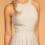 BRIDESMAID SAGE LONG DRESS GL2605