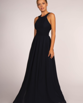 BRIDESMAID NAVY LONG DRESS GL2605