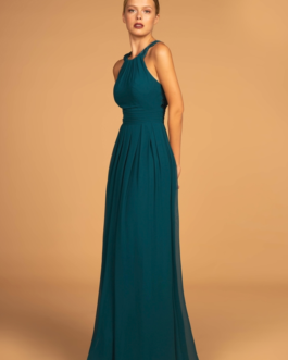 BRIDESMAID TEAL LONG DRESS
