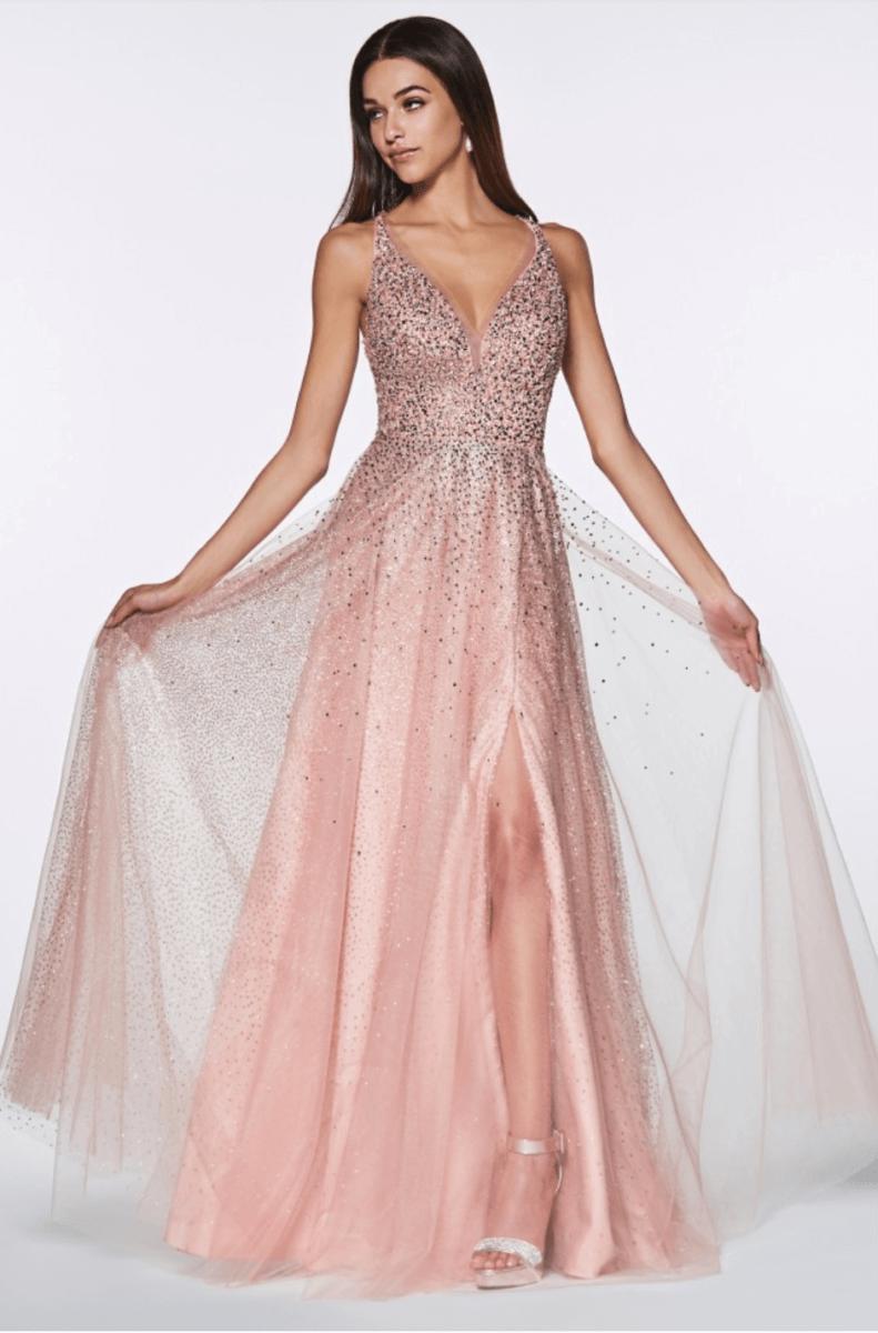 PROM DRESS ROSE GOLD CR822