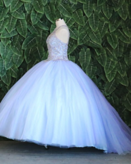 QUINCEANERA DRESS TWO TONE BALL GOWN SKY BLUE/LILAC