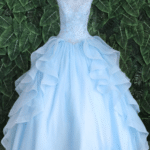 QUINCEANERA DRESS BAHAMA BLUE