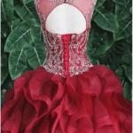 QUINCEANERA DRESS BURGUNDY