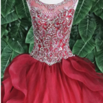 QUINCEANERA DRESS BURGUNDY