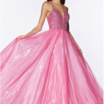 PROM DRESS HOT PINK CR835