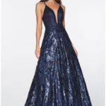 PROM DRESS NAVY ML923
