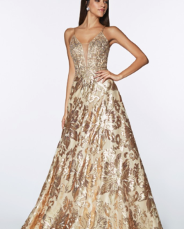 PROM DRESS GOLD ML923