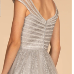 PROM DRESS SILVER ELIZABETH K. GL2526