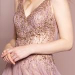PROM DRESS MAUVE GL2618 ELIZABETH K.