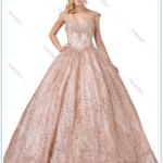 QUINCEANEROA DRESS ROSE GOLD DQ 1397