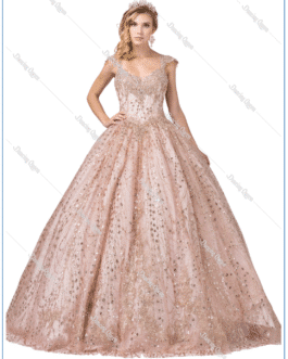 QUINCEANEROA DRESS ROSE GOLD DQ 1397